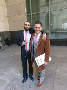 Brandon Jordan with Attorney Gambone
