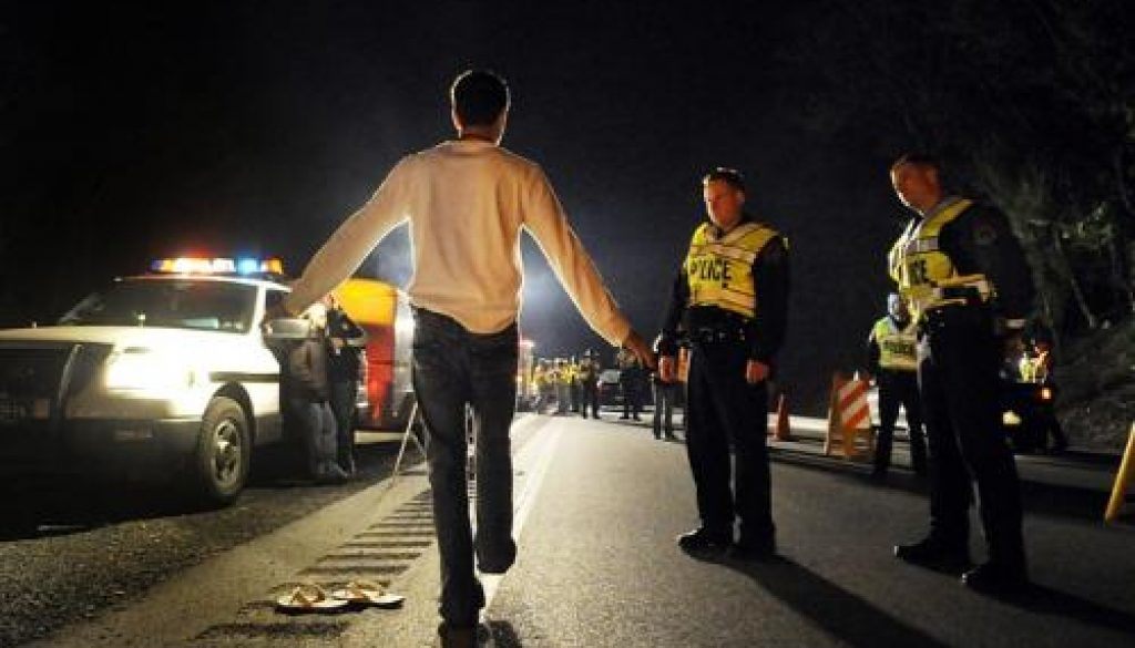 DUI Checkpoints And Roadblocks