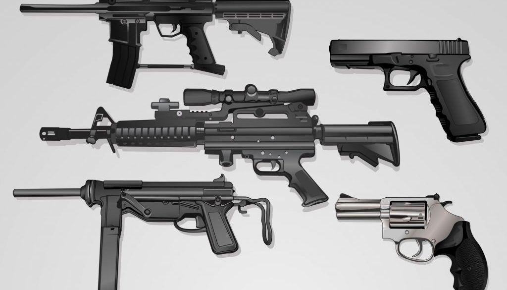 collecion of guns