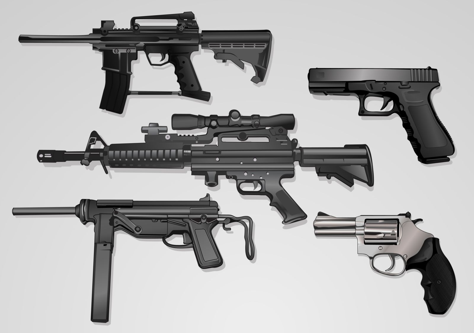 collecion of guns