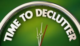 Time to Declutter Spring Cleaning Clock Words 3d Illustration