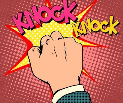 Knock door hand