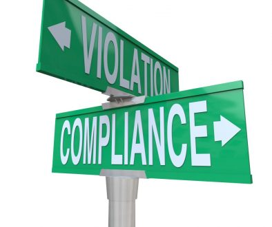 Compliance Vs Violation Street Road Sign Direction Advice Follow