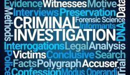 Criminal Investigation Word Cloud