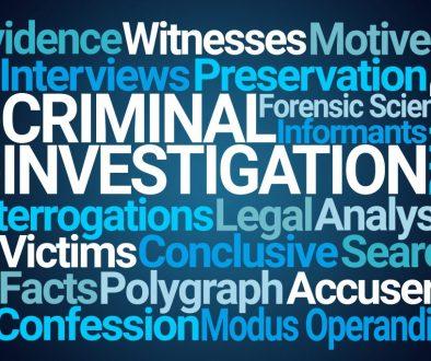 Criminal Investigation Word Cloud